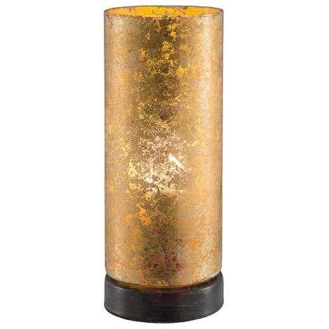 Kullanvärinen LED-pöytävalaisin Latina lasia