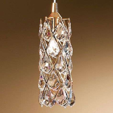 Kullattu riippuvalaisin CHARLENE kristalleilla