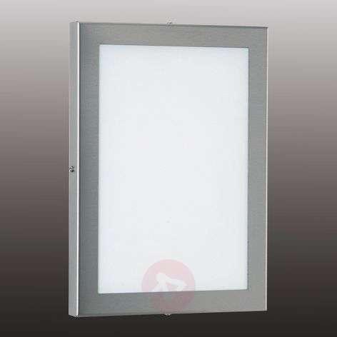 Kulmikas Alina-LED-ulkovalaisin, ruostumaton teräs
