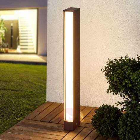 Kulmikas grafiitinharmaa Holly-LED-pylväsvalaisin