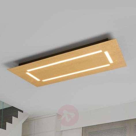 Kulmikas LED-kattovalaisin Banu, kullanvärinen