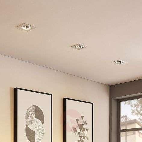 Kulmikas LED-uppospotti Cecylia alumiinia