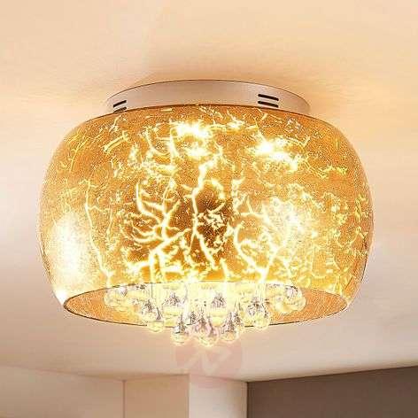 Kultainen LED-lasikattolamppu Ilonka