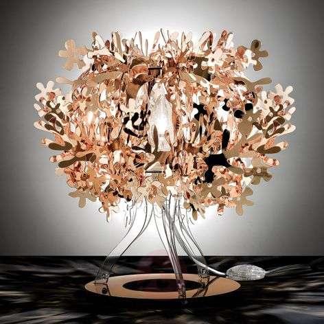 Kuparinvärinen design-pöytävalaisin Fiorellina