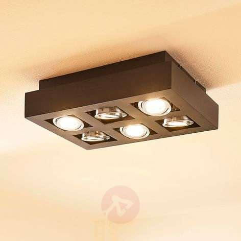 Kuusilamppuinen keittiön LED-kattolamppu Vince