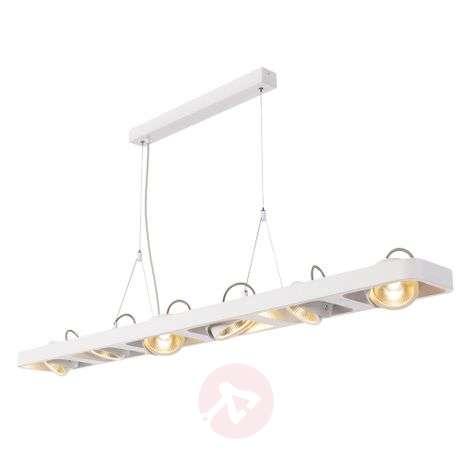 Kuusilamppuinen LED-riippuvalaisin Lynah valkoinen