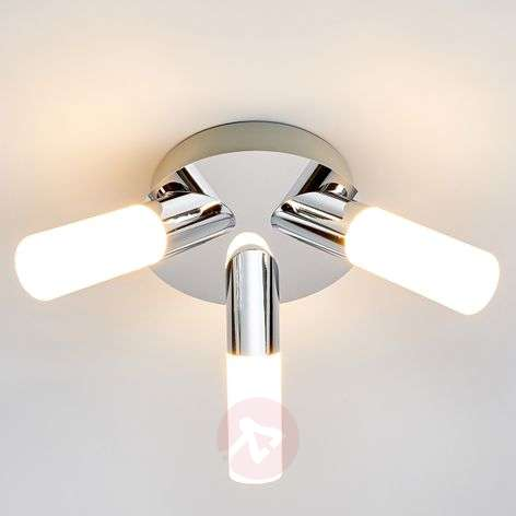 Kylpyhuoneen Benaja-kattovalaisin LED 3-os.