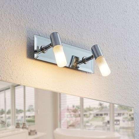 Kylpyhuoneen kattolamppu Zela, 2-lamppuinen kromi