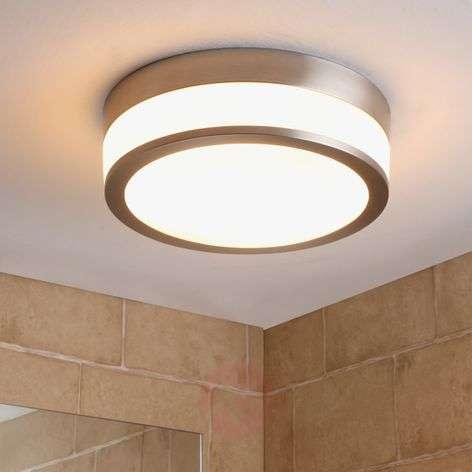 Kylpyhuoneen LED-kattovalaisin Flavi matta nikkeli