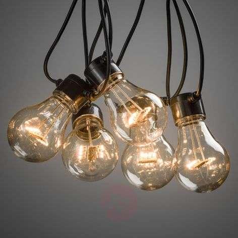 Kymmenlamppuinen LED-valoketju Terassi