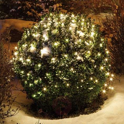 Lämmin valk. säteil. LED-valoverkko 2x2m 160lampp.
