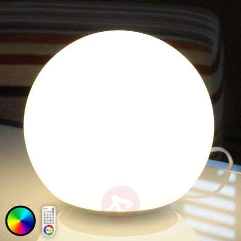 Lasipöytävalaisin Dahlia, RGB-LEDit, kaukosäädin