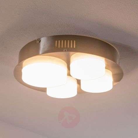 Leah - nelilamppuinen LED-kattovalaisin, pyöreä