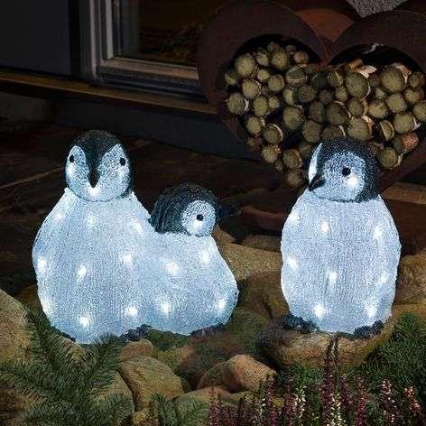 LED-akryyli-figuuri pingviiniperhe 3 kpl:n setti-5524872-31