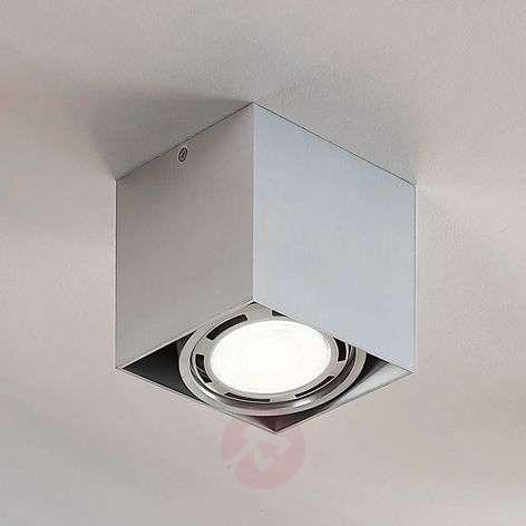 LED-alasvalo Rosalie, 1-lamp., kulmikas, alumiini