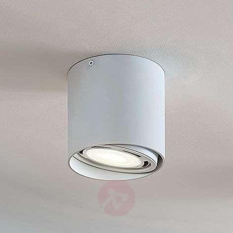 LED-alasvalo Rosalie 1-lamp., pyöreä, valkoinen