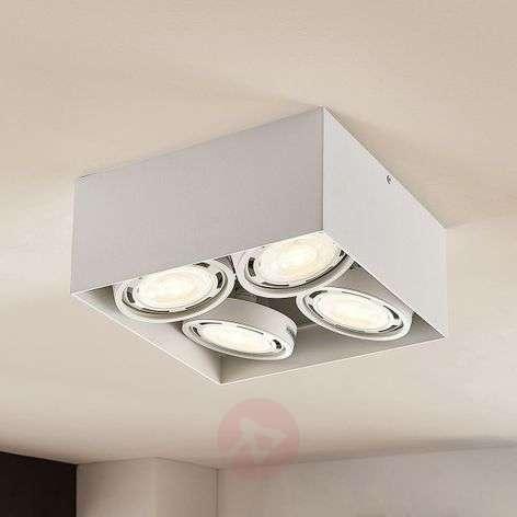 LED-alasvalo Rosalie 4-lamp., kulmikas, valkoinen