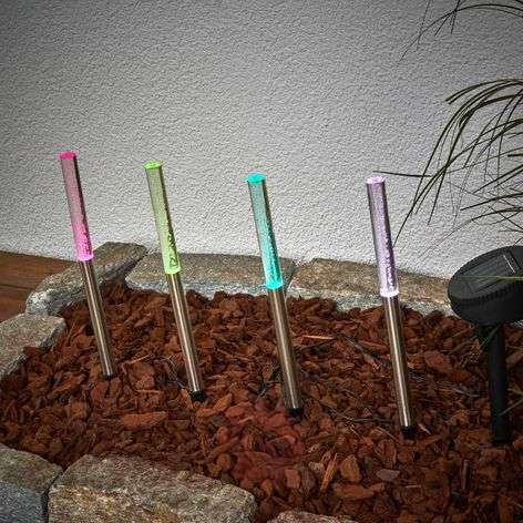 LED-aurinkoenergiavalaisin Felia RGB, 4:n setti