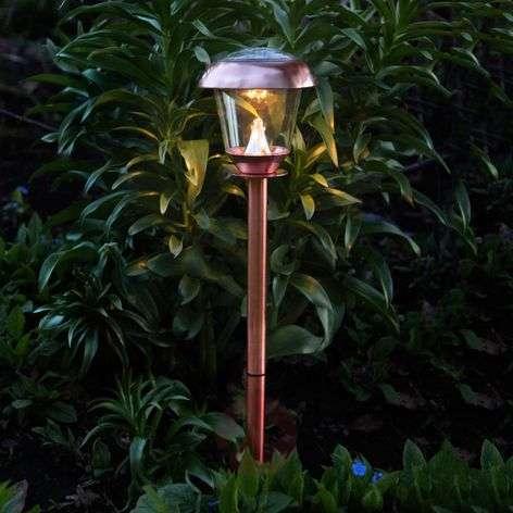 LED-aurinkokennovalaisin Sarina, kupari 66 cm