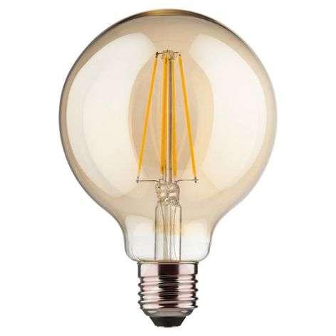 LED-globe E27 8W kulta lämmin valkoinen 850 lm
