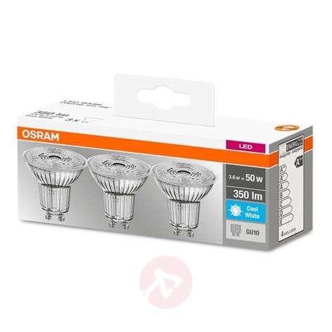 LED-heijastinlamppu GU10 3,6W neutraali valk. 3kpl