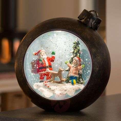 LED joulukuusen pallo joulupukki+lapset, vesitäyt.