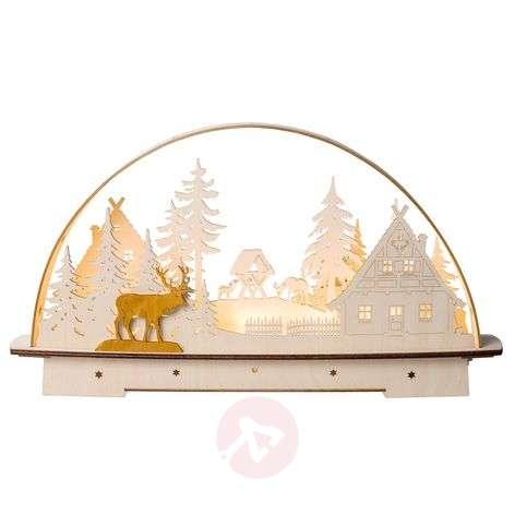 LED-kaarikynttelikkö Metsämaja, paristokäyttöinen