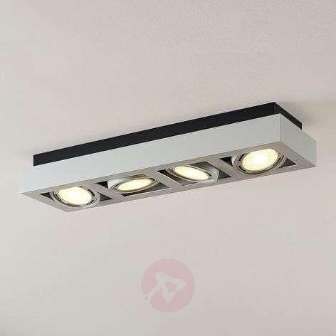 LED-kattokohdevalo Ronka, 4-lampp. pitkä valkoinen