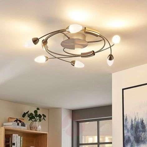 LED-kattolamppu Deyan, 6-lampp. pyöreä