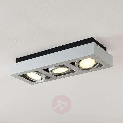LED-kattospotti Ronka, GU10, 3-lamppuinen, valk.