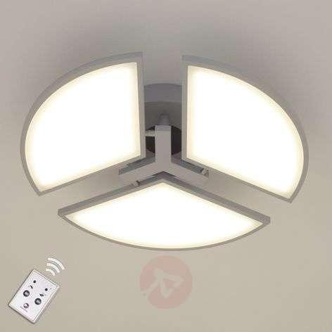 LED-kattovalaisin Aurela hopea 3-lamppuinen