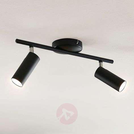 LED-kattovalaisin Camille, musta, kaksilamppuinen