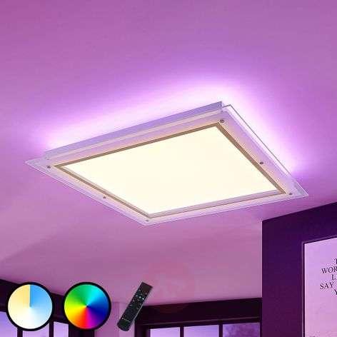 LED-kattovalaisin Curd CCT, 67,5 x 67,5 cm