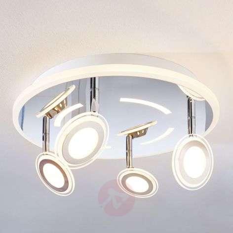 LED-kattovalaisin Enissa, pyöreä, 4-lamppuinen