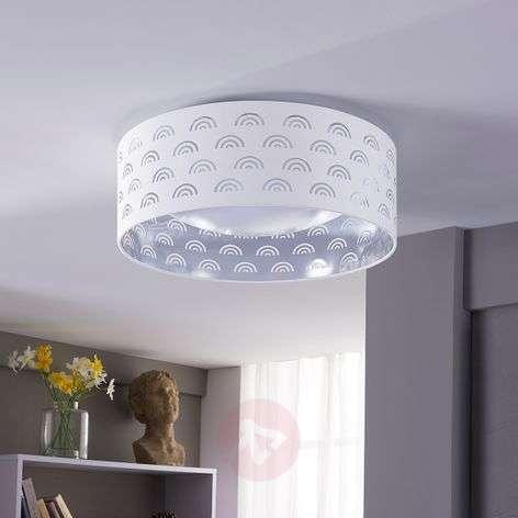 LED-kattovalaisin Jorunn, valk./sisäpuoli hopea