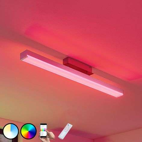 LED-kattovalaisin Keyan WiZ kulmikas pitkä nikkeli