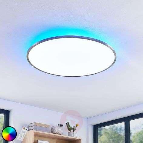 LED-kattovalaisin Lynn CCT+RGB, pyöreä, 75 cm