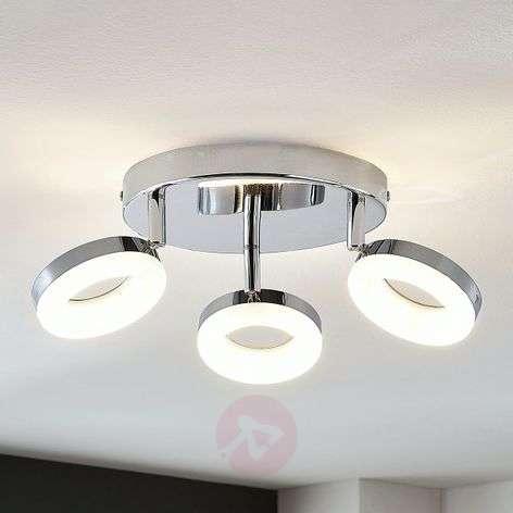 LED-kattovalaisin Ringo, 3-lamppuinen, pyöreä