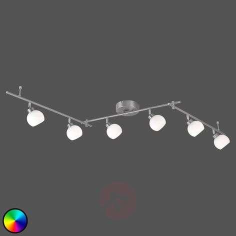 LED-kattovalaisin Yaeka, 6-lamppuinen, kaukosäädin