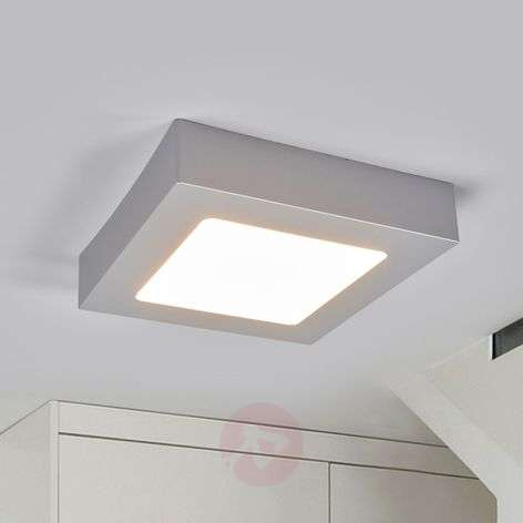 LED-kattovalo Marlo hopea 3000K kulmikas 18,1 cm