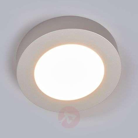 LED-kattovalo Marlo hopea 3000K pyöreä 18,2 cm