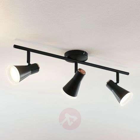 LED-kohdevalo Michiko, musta, 3-lamppuinen
