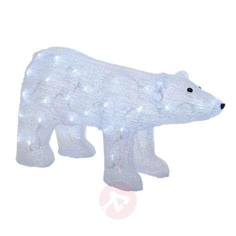 LED-koristekuva jääkarhu, ulkotiloihin, läpinäkyvä