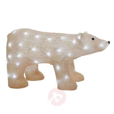 LED-koristekuva jääkarhu, ulkotiloihin, samppanja