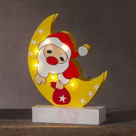 LED-koristevalaisin joulupukki Freddy kuussa