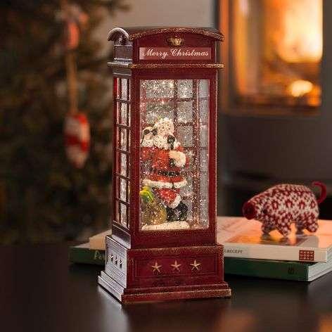 LED-koristevalaisin puhelinkoppi + joulupukki