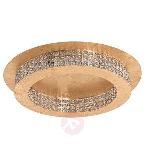 LED-kristallikattolamppu Principe gold