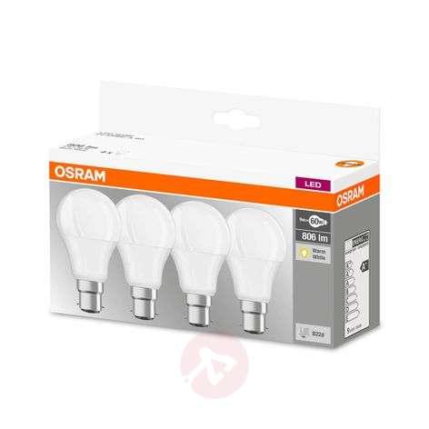 LED-lamppu B22d 9W lämmin valk. 806 lumenia, 4 kpl