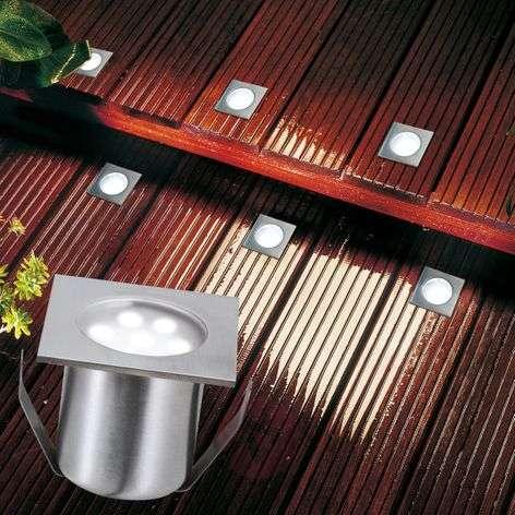 LED-lattiaspotti PROFI MINI, perussetti, nelikulm.
