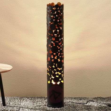 LED-lattiavalaisin Coins, liekkiefekti, musta